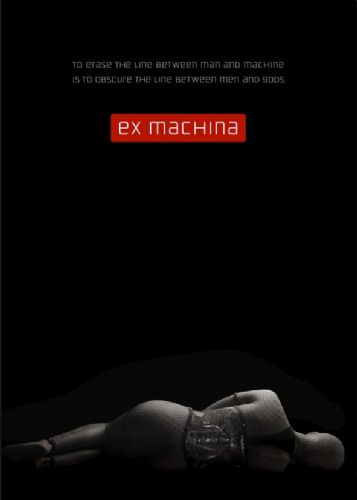 2010's Movie - EX MACHINA - BLACKOUT canvas print - self adhesive poster - photo print